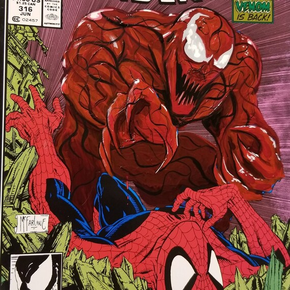 Amazing Spider-Man #316 Mexican Edition with Carnage Acrylic Remarks