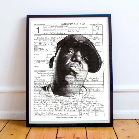 Biggie Smalls - Ballpoint Pen Illustration Brooklyn Christopher Wallace Notorious B.I.G. Limited Edition Print