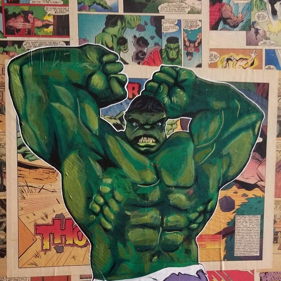 Incredible Hulk Original Painting