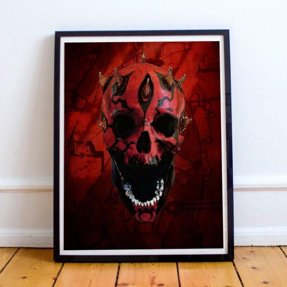 Darth Skull - Darth Maul STAR WARS Sith Appreitice Fine Art Print