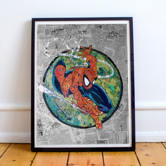 Amazing Spider-Man 301 Mosaic Collage Art Print after Todd McFarlane