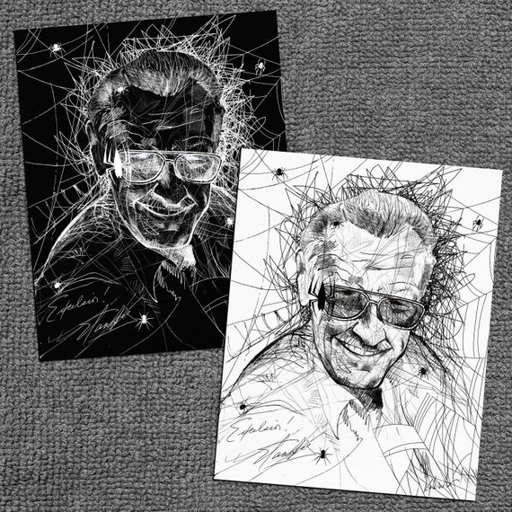 Stan Lee Black and White