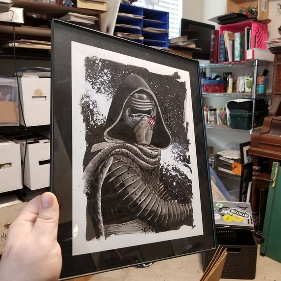 Kylo Ren Original India Ink Illustration