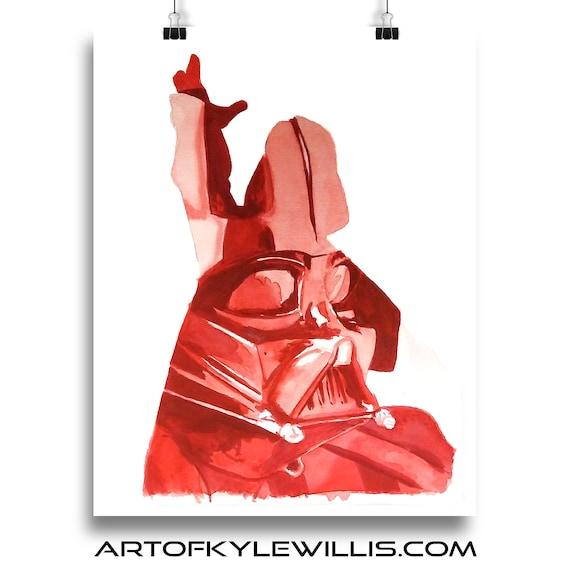 Darth Vader - Star Wars Sith Lord Dark Side Watercolor Painting Fine Art Print