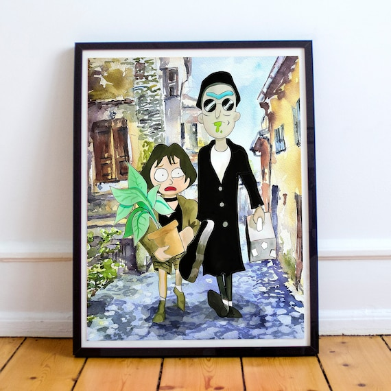 Réon and Morthilda - Rick and Morty Léon: The Professional Fine Art Print