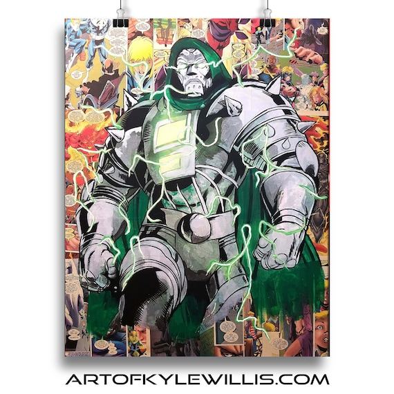 Doctor Doom Collage II Painting Fine Art Print