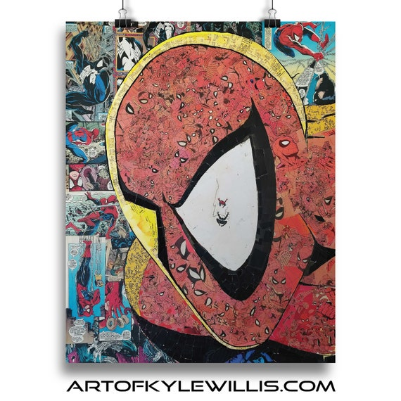 Pieces of You- Amazing Spider-Man Mosaic Collage Fine Art Print