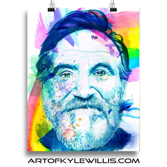 Robin Williams watercolor painting fine art print