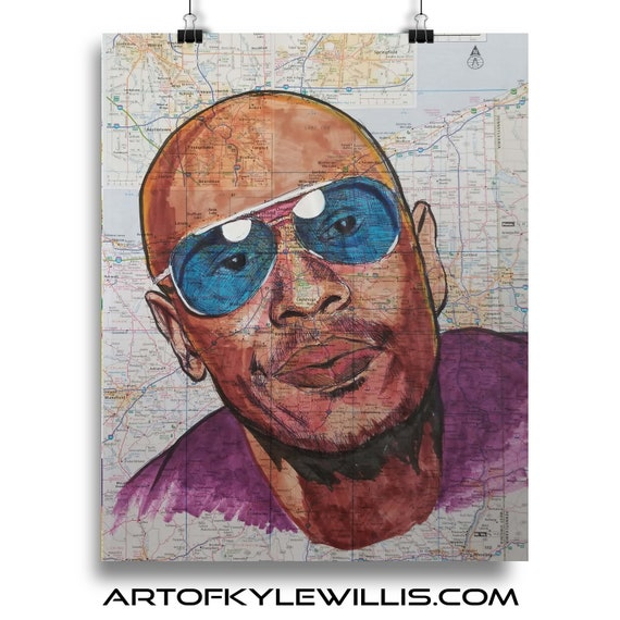 Dave from Ohio - Dave Chappelle Sketch Atlas Fine Art Print