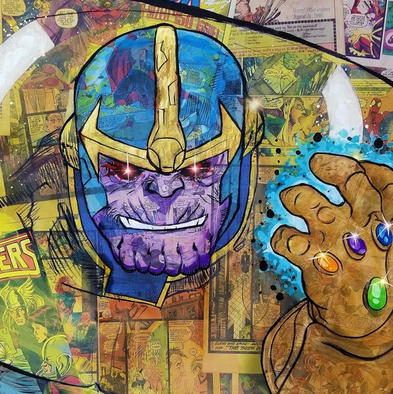 Thanos Mixed Media Painting