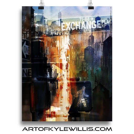 NYC Series The Exchange multimedia fine art print