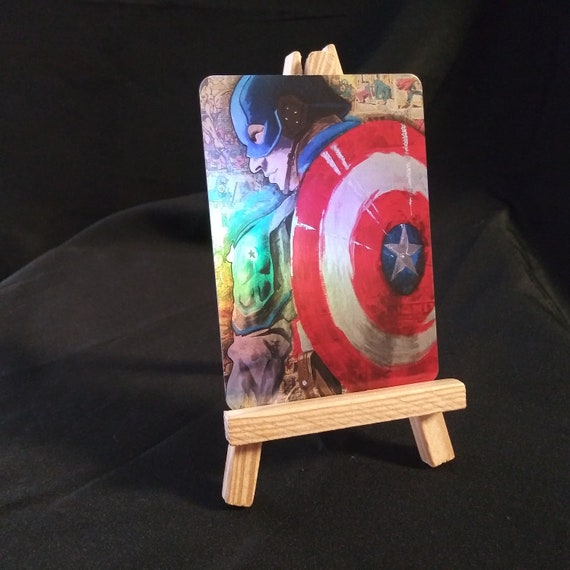 Captain America Collage Holofoil Trading Card