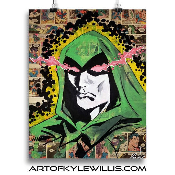 The Spectre Collage Painting Fine Art Print