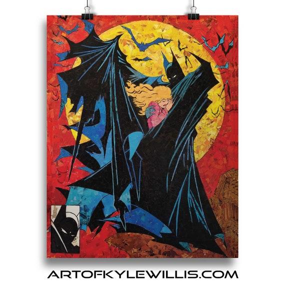 Batman 423 Mosaic Fine Art Print