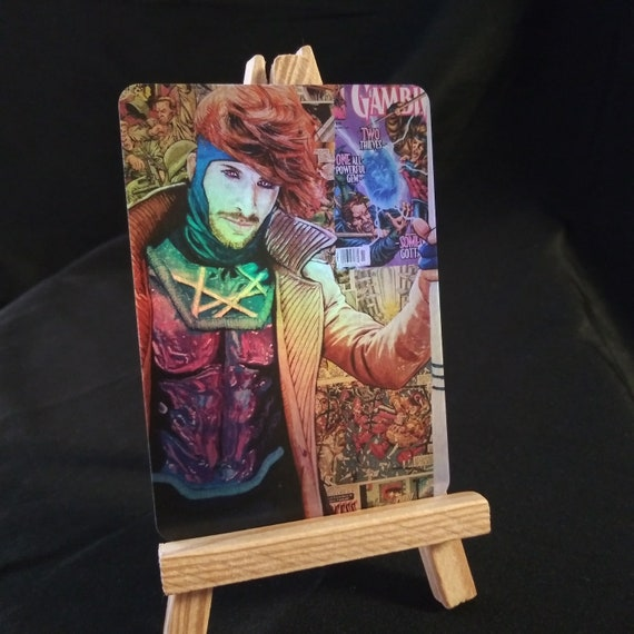 Gambit Collage Holofoil Trading Card