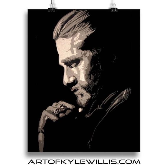 Jax Teller Sons of Anarchy acrylic painting portrait fine art print