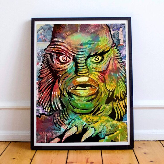 Creature from the Black Lagoon Horror Classics Painting Fine Art Print