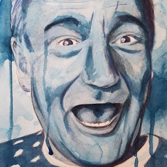 Robin Williams Watercolor Painting