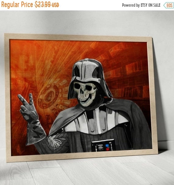 On Sale May the Peace of the Sith Lord be Always with You - Darth Vader  STAR WARS Fine Art Print