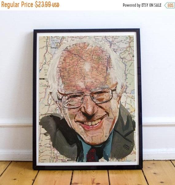 On Sale Bernie from Vermont - Senator Sanders Sketch Atlas Fine Art Print