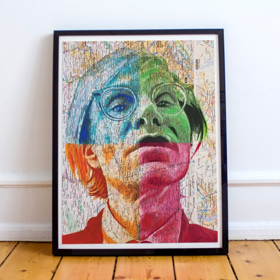 Andy from Pennsylvania - Andy Warhol Pop Art Artist Sketch Atlas Fine Art Print
