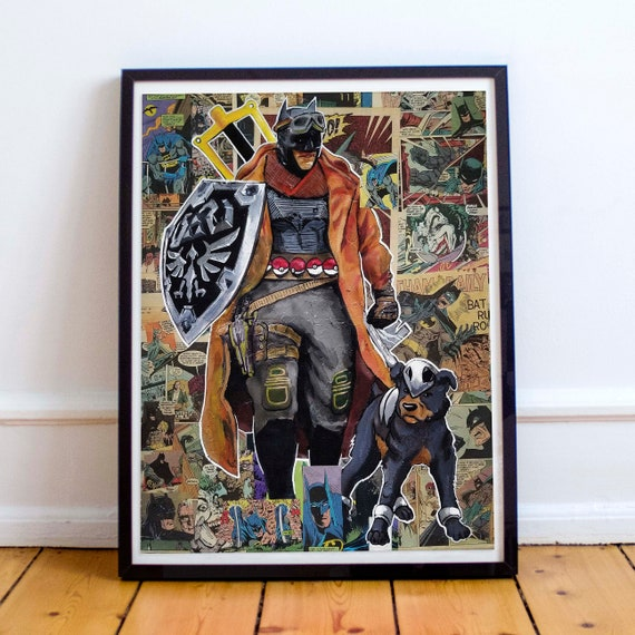 Knightmare Games - Legend of Zelda/Pokemon/Kingdom Hearts/Batman Mash-up Fine Art Print