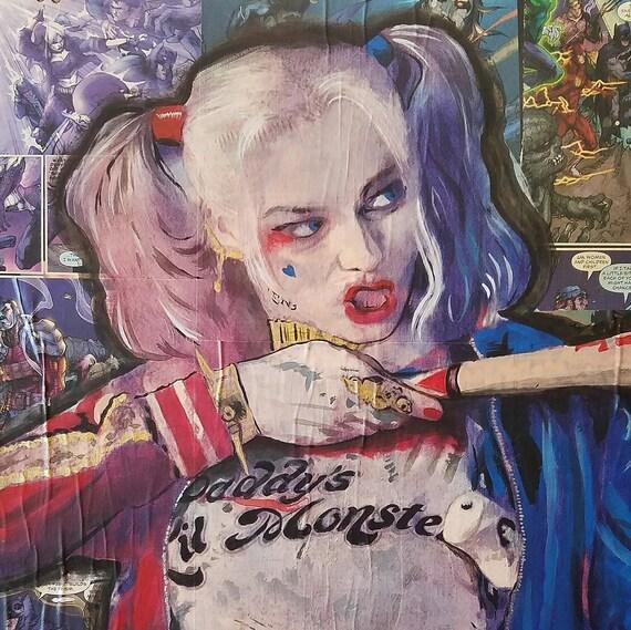 Harley Quinn - The Joker/Batman Original Painting