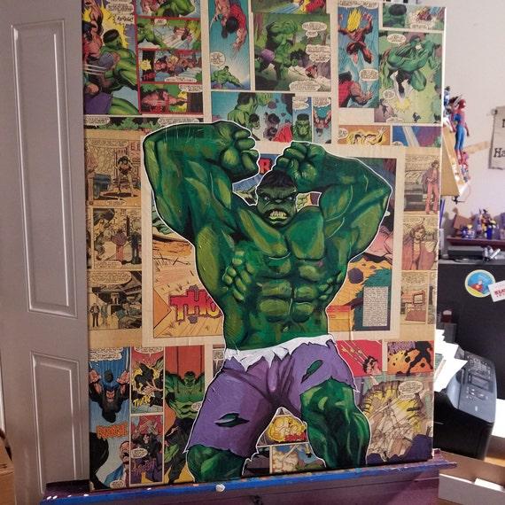 Incredible Hulk Original Painting