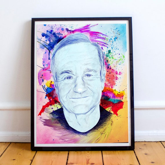 Right in the Childhood - Robin Williams Ballpoint Pen Fine Art Print