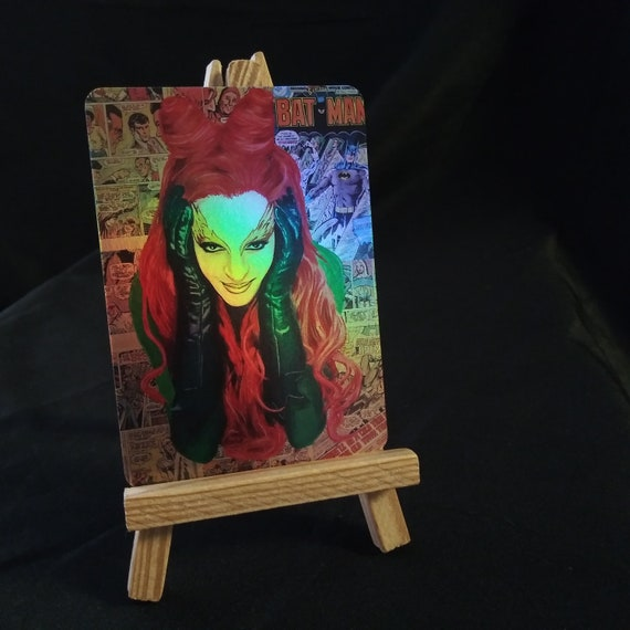 Poison Ivy Collage Holofoil Trading Card