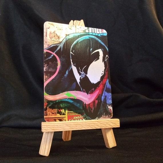 Dinner Time! - Amazing Spider-Man Venom Collage Holofoil Trading Card