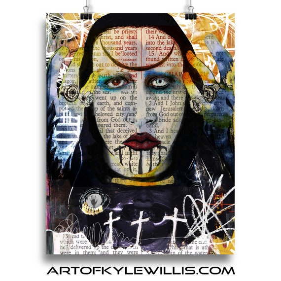 Marilyn Manson Abstract Nightmare Fine Art Print