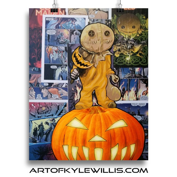 Keeper of Traditions - Sam Trick r Treat Horror Classics Painting Fine Art Print
