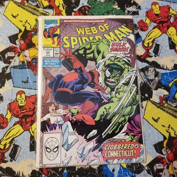 Web of Spider-man #69 with Venomized Hulk Acrylic Remarks