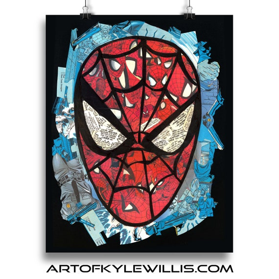 Amazing Spider-Man Mosaic Art Print