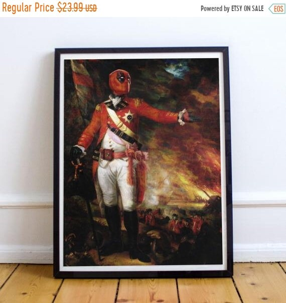 On Sale General Deadpool - Classical Painting Fine Art Print