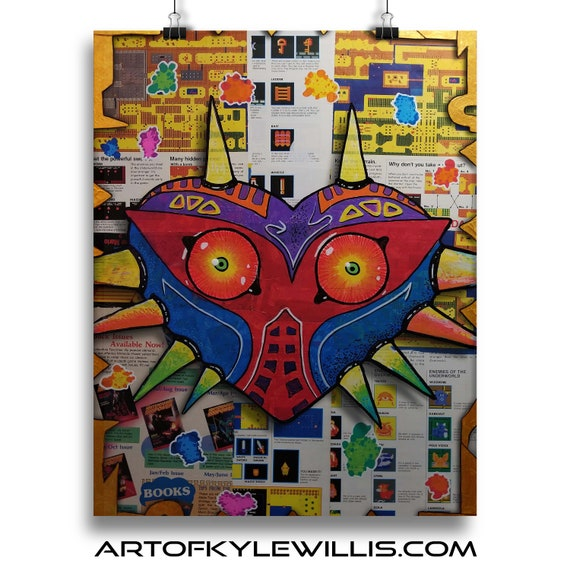 Legend of Zelda Majora's Mask Collage Fine Art Print
