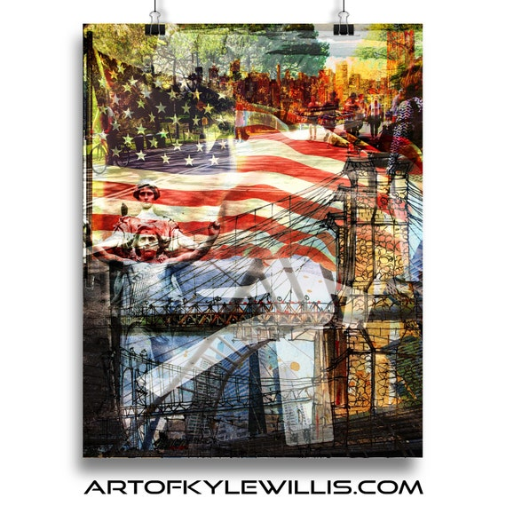 NYC Series America multimedia fine art print