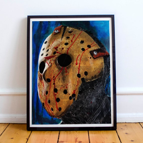 Jason Voorhees Friday the 13th Horror Classics Painting Fine Art Print