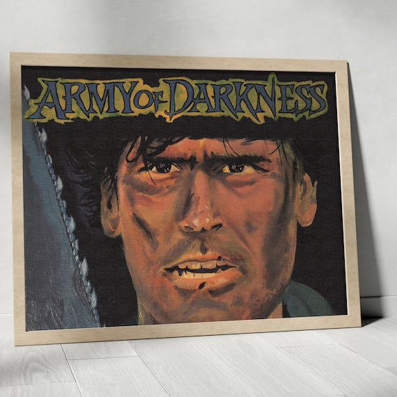 Ash Williams Evil Dead Army of Darkness Horror Classics Painting Fine Art Print