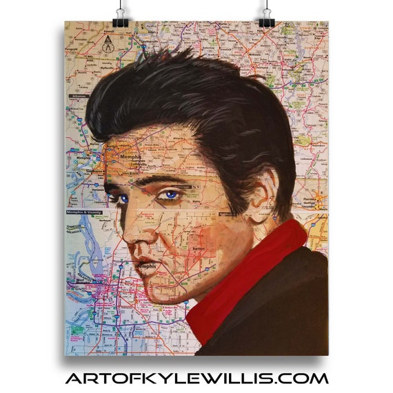 Elvis Presley marker portrait king of rock n roll  fine art print