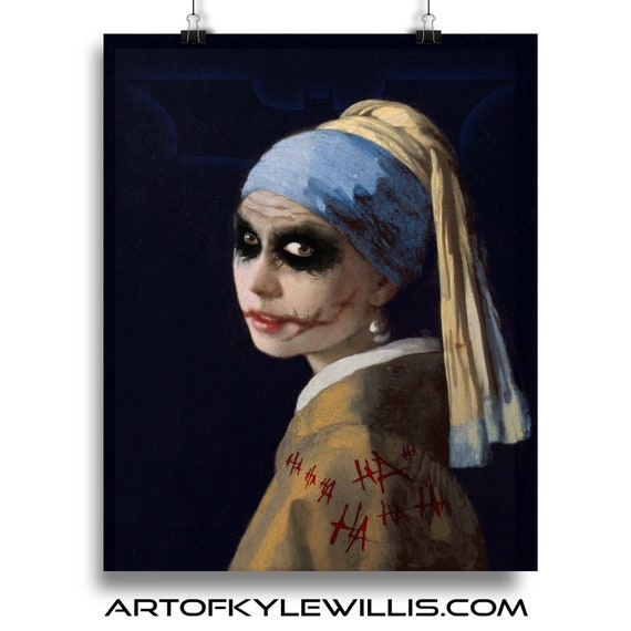 The Girl with the Broken Smile Painting Fine Art Print