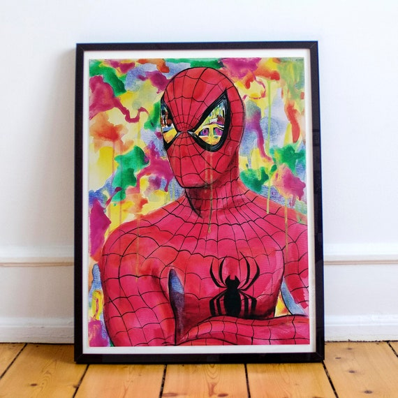 Eyes on New York - NYC Amazing Spider-Man Watercolor Fine Art Print