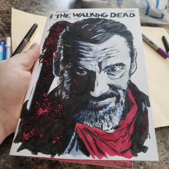 The Walking Dead #150 Negan Sketch OOAK