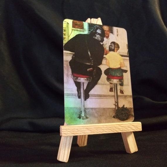 Darth Vader Norman Rockwell Holofoil Trading Card