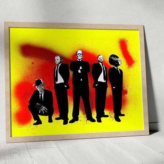 Horror Mad Men - Horror Classics Painting Fine Art Print