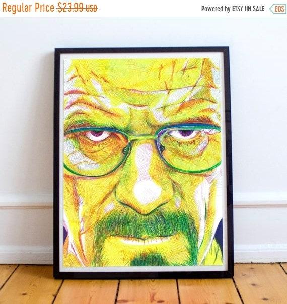 On Sale Heisenburg - Breaking Bad Walter White Bryan Cranston Ballpoint Pen Illustration Fine Art Print