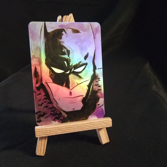 Batman Watercolor  Holofoil Trading Card