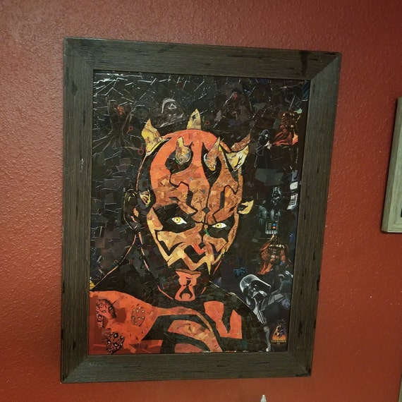 Darth Maul Mosaic Collage