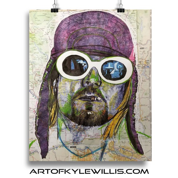 Kurt from Washington Sketch Atlas Fine Art Print